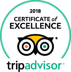 Certificate of Excellence 2018 by TripAdvisor