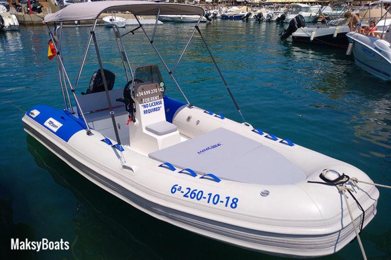 Boat hire without license in Mallorca Rib Tarpon 470 LX