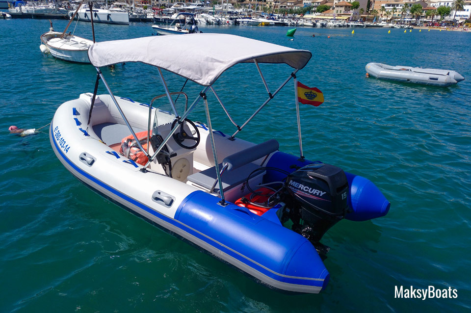 Rib Sport boat hire without license in Port de Sóller, Mallorca